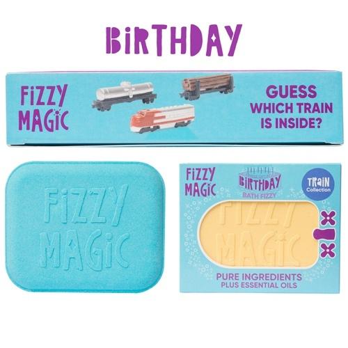 Surprise Train Gift Inside+Birthday Sign